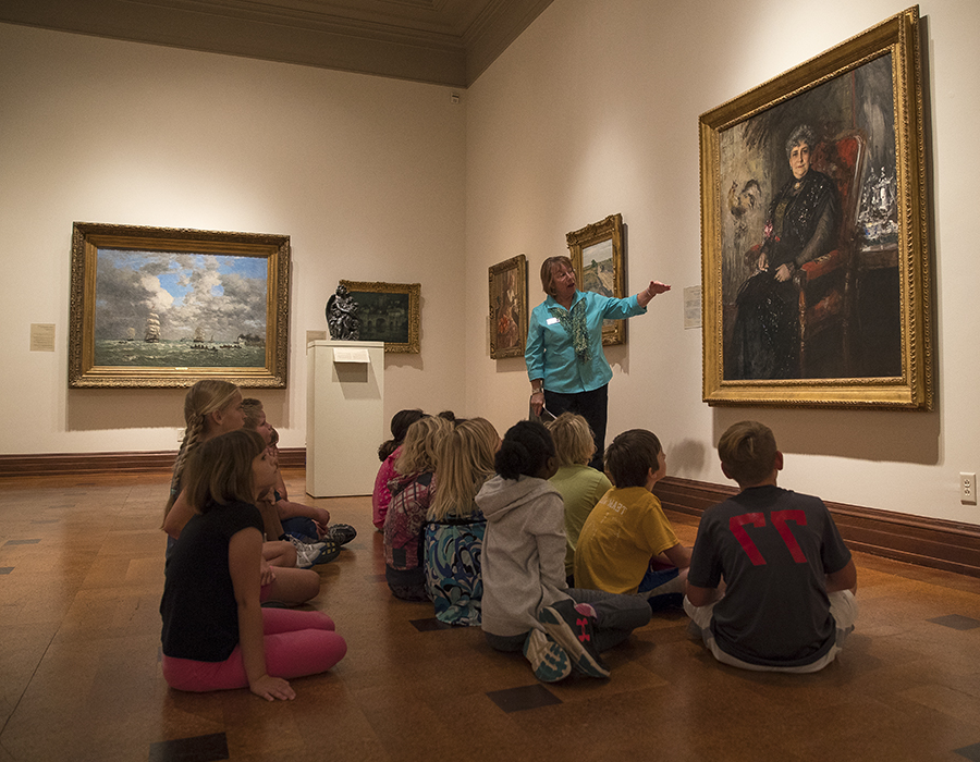 children in David Owsley Museum of Art